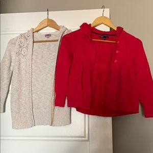 Bundle of 2 girls cardigans Justice and Gap